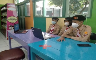 Dewan Penggalang MTsN 1 Yogyakarta Terima Tantangan Dewan Penegak MAN 1 Sleman